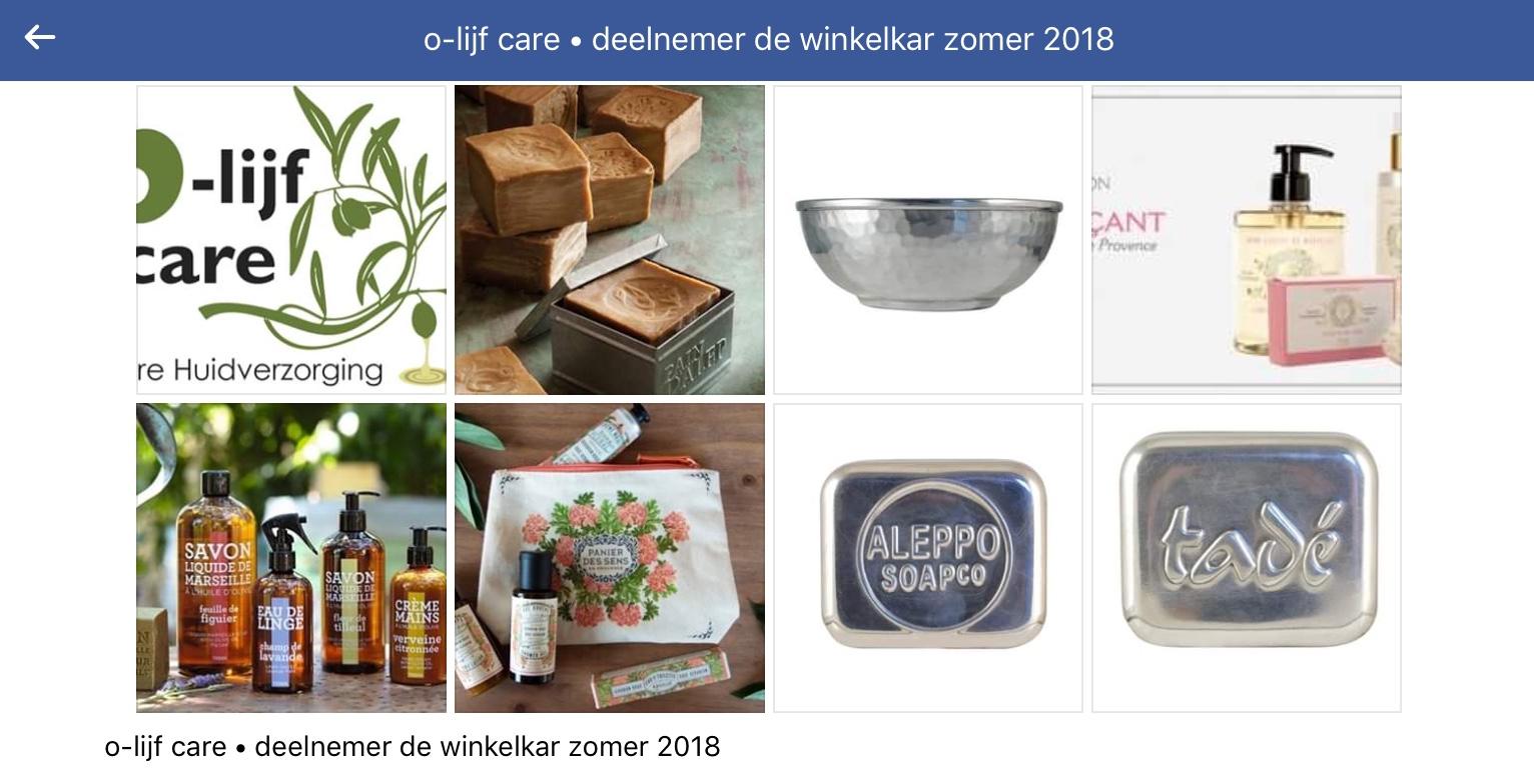 Olijfcare De Winkelkar Zomer Editie