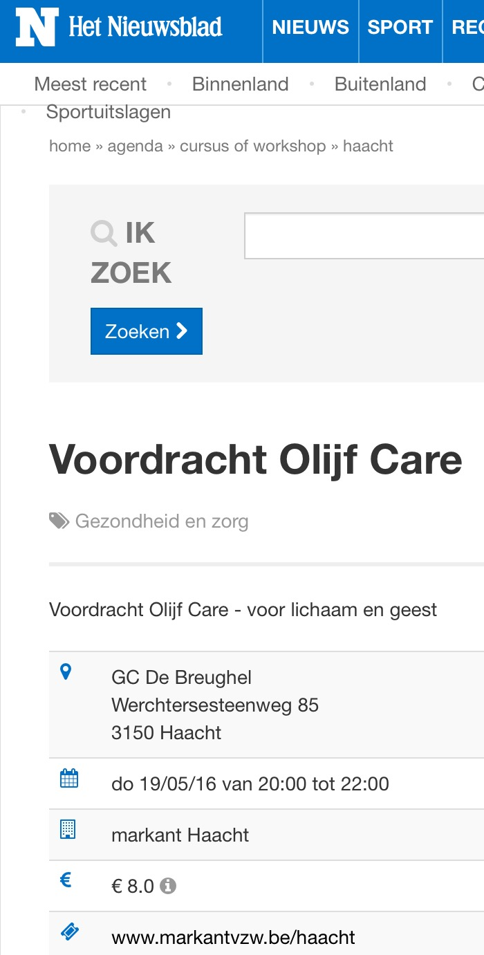 Olijfcare Markant Haacht Het Nieuwsblad