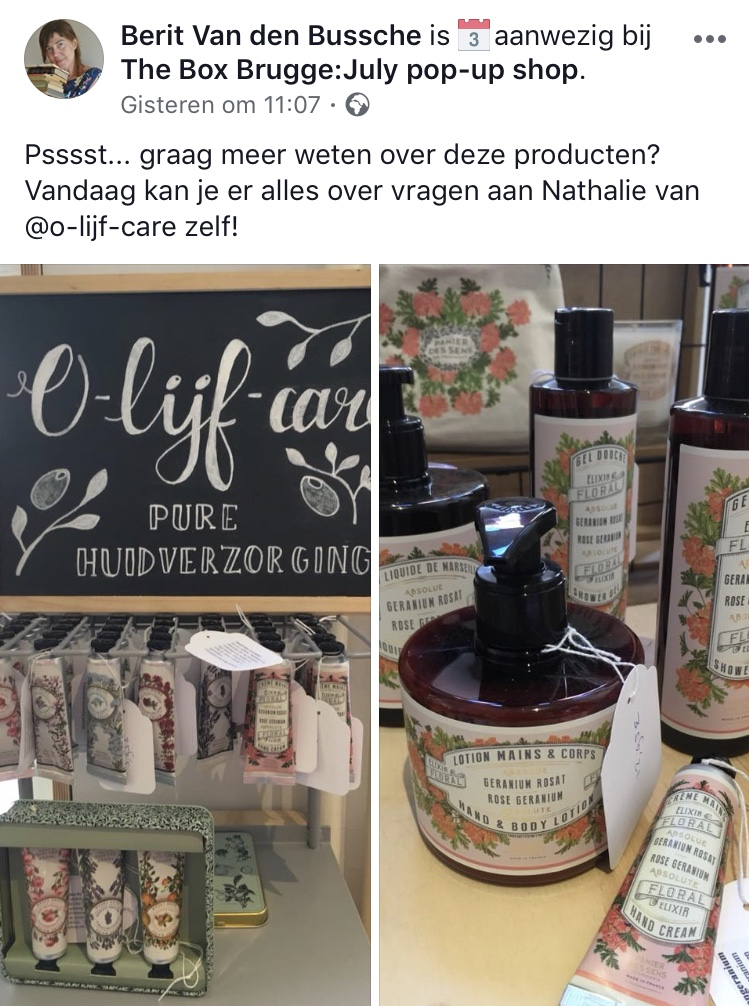 Olijfcare The Box Brugge