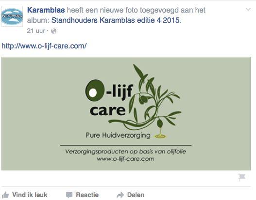 Olijfcare Facebook Karamblas