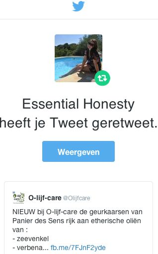 Olijfacre Retweet Essential Honesty
