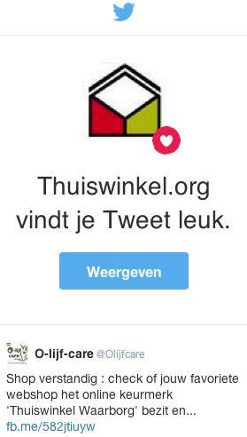 Liked Olijfcare Tweet by Thuiswinkelorganisatie