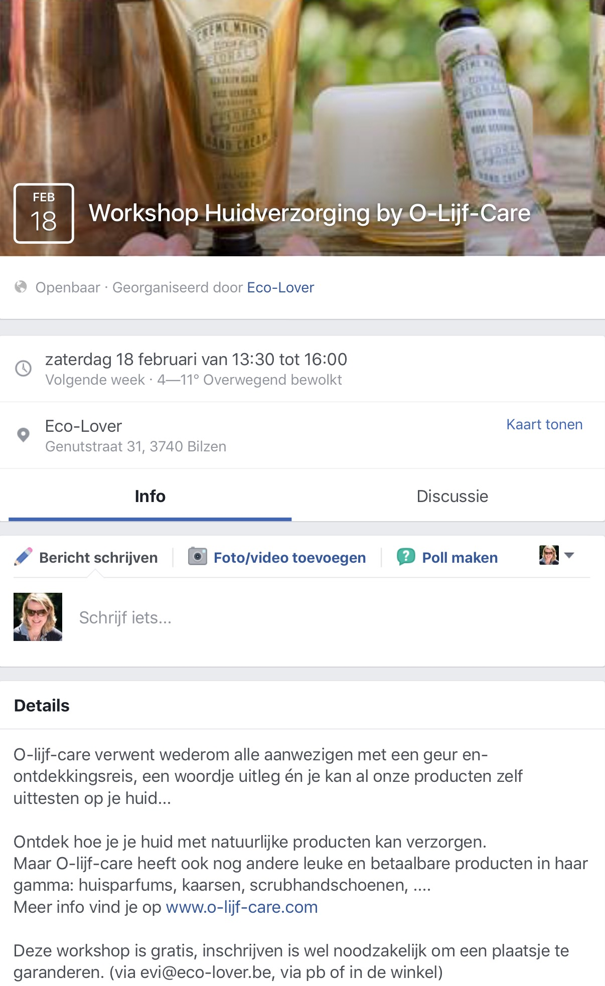 Olijfcare Workshop Ecolover Bilzen