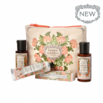 Travel Set Panier des Sens Rozengeranium douchegel body lotion handcreme EDT toilettas
