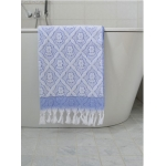 Turkse handdoek grieksblauw 140 x 70 cm ottomania