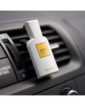 Auto Verfrisser Ipuro Black gebruik in auto op dashbord