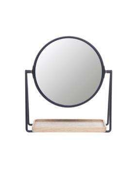 Make-Up Spiegel Bamboo Rond Met Plateau