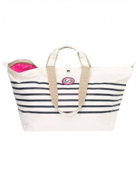 Strandtas Shopper Sailor Wit Blauw All Time Favourites