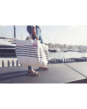 Shopper Strandtas Sailor Wit Blauw All Time Favouites gebruik