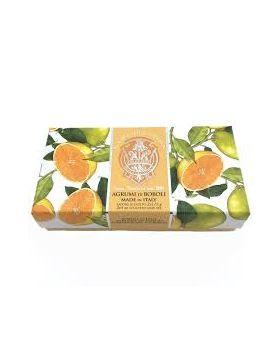 Zeep Boboli Citrus 2 x 115 g La Florentina met verpakking